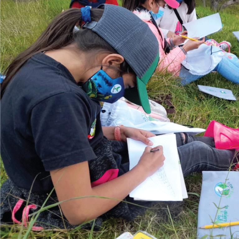 Niños le apuestan a la conservación del Loro Orejiamarillo